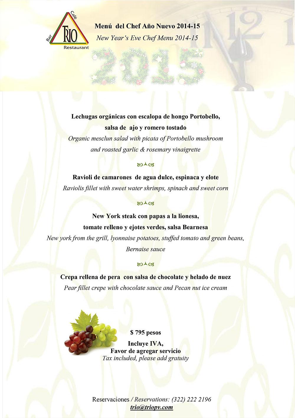 Celebraci n de a o nuevo con nuestros menus especiales - Menus para fin de ano ...